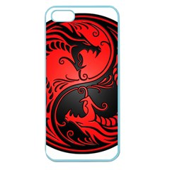 Yin Yang Dragons Red And Black Apple Seamless Iphone 5 Case (color)