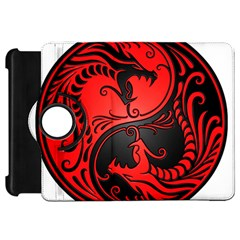 Yin Yang Dragons Red and Black Kindle Fire HD 7  (1st Gen) Flip 360 Case