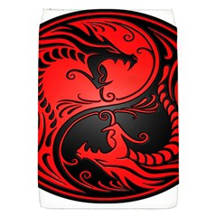 Yin Yang Dragons Red And Black Removable Flap Cover (small)