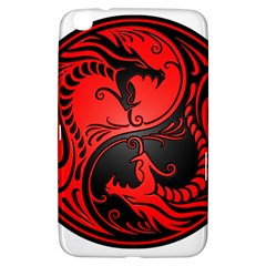 Yin Yang Dragons Red and Black Samsung Galaxy Tab 3 (8 ) T3100 Hardshell Case