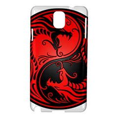 Yin Yang Dragons Red and Black Samsung Galaxy Note 3 N9005 Hardshell Case