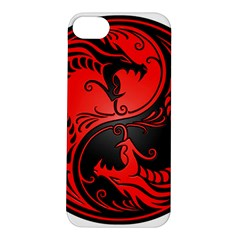 Yin Yang Dragons Red and Black Apple iPhone 5S Hardshell Case