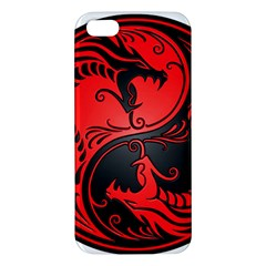 Yin Yang Dragons Red and Black iPhone 5S Premium Hardshell Case