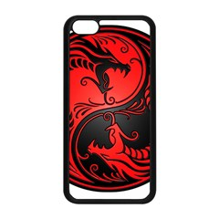 Yin Yang Dragons Red And Black Apple Iphone 5c Seamless Case (black)