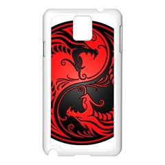 Yin Yang Dragons Red and Black Samsung Galaxy Note 3 N9005 Case (White)