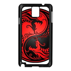 Yin Yang Dragons Red and Black Samsung Galaxy Note 3 N9005 Case (Black)