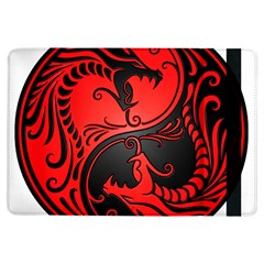 Yin Yang Dragons Red And Black Apple Ipad Air Flip Case