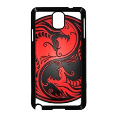 Yin Yang Dragons Red and Black Samsung Galaxy Note 3 Neo Hardshell Case (Black)