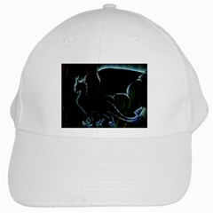 Dragon Aura White Baseball Cap