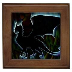 Dragon Aura Framed Ceramic Tile
