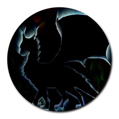 Dragon Aura 8  Mouse Pad (round)
