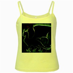 Dragon Aura Yellow Spaghetti Tank