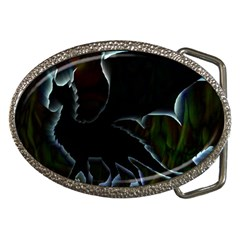 Dragon Aura Belt Buckle (oval)