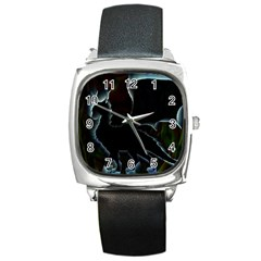 Dragon Aura Square Leather Watch