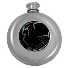 Dragon Aura Hip Flask (round)
