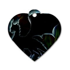 Dragon Aura Dog Tag Heart (two Sided)