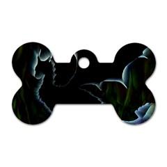 Dragon Aura Dog Tag Bone (One Sided)
