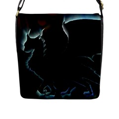 Dragon Aura Flap Closure Messenger Bag (Large)