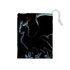 Dragon Aura Drawstring Pouch (medium)