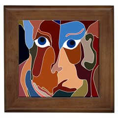 Abstract God Framed Ceramic Tile