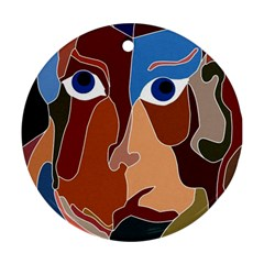 Abstract God Round Ornament