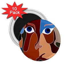 Abstract God 2.25  Button Magnet (10 pack)