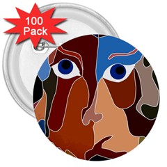 Abstract God 3  Button (100 pack)