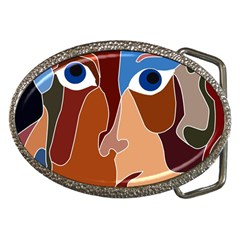 Abstract God Belt Buckle (Oval)