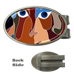 Abstract God Money Clip (oval)