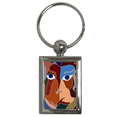 Abstract God Key Chain (rectangle)