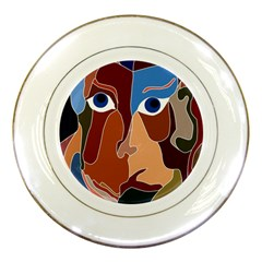 Abstract God Porcelain Display Plate
