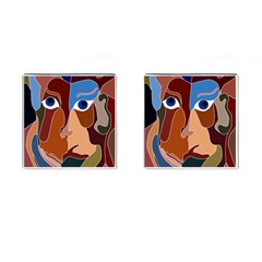 Abstract God Cufflinks (square)