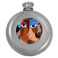 Abstract God Hip Flask (Round)