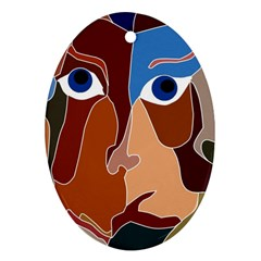 Abstract God Oval Ornament (two Sides)