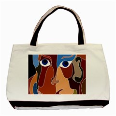 Abstract God Twin Sided Black Tote Bag