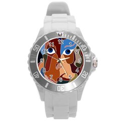 Abstract God Plastic Sport Watch (large)