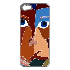 Abstract God Apple iPhone 5 Case (Silver)