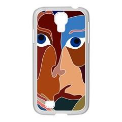 Abstract God Samsung Galaxy S4 I9500/ I9505 Case (white)