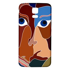 Abstract God Samsung Galaxy S5 Back Case (White)