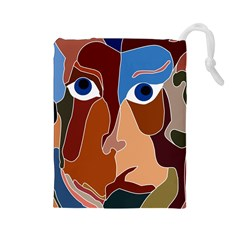 Abstract God Drawstring Pouch (Large)