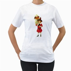 Vintage Halloween Girl  Women s T-Shirt (White)
