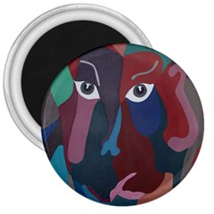 Abstract God Pastel 3  Button Magnet