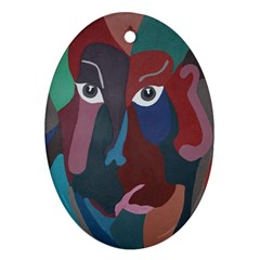 Abstract God Pastel Oval Ornament