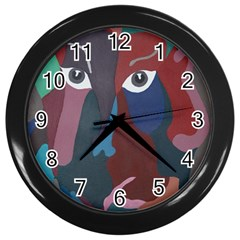Abstract God Pastel Wall Clock (Black)