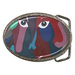 Abstract God Pastel Belt Buckle (oval)