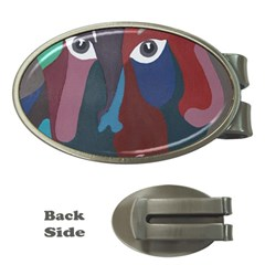 Abstract God Pastel Money Clip (oval)