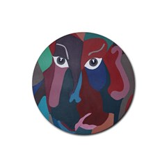 Abstract God Pastel Drink Coaster (round)