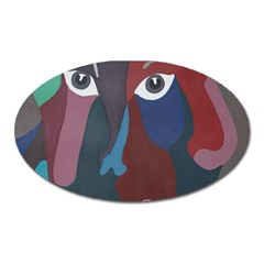 Abstract God Pastel Magnet (oval)