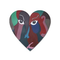 Abstract God Pastel Magnet (Heart)