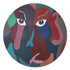 Abstract God Pastel Magnet 5  (round)